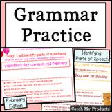 Grammar Practice: February Grammar Work for Promethean Board Use