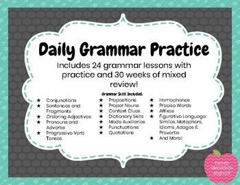 Grammar Practice- Grammar Lessons and Weekly Practice