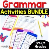 Grammar Practice for 3rd-6th Grade: Grammar Bundle | Grammar Worksheets