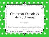 Grammar Practice Homophones