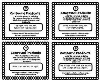 Grammar Practice: Identify the Compound Predicate