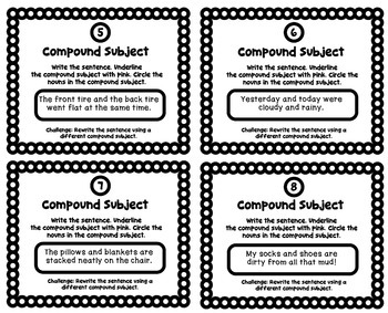 Grammar Practice: Identify the Compound Subject