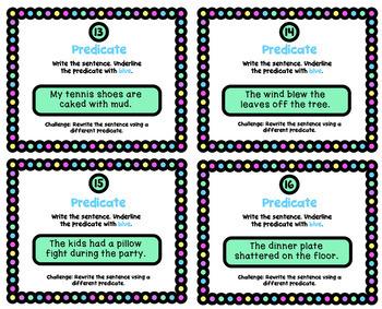 Grammar Practice: Identify the Predicate
