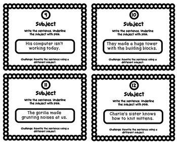 Grammar Practice: Identify the Subject