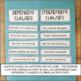 Grammar: Hands On Unit - Independent & Dependent Clauses - 1 Week of Activities!