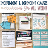 Grammar: Hands On Unit - Independent & Dependent Clauses -