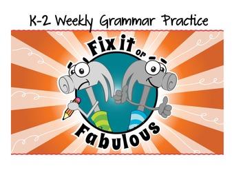 Grammar Practice K-2 (Sports) - Common Core