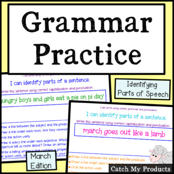 Daily Grammar March for PROMETHAN Board Use