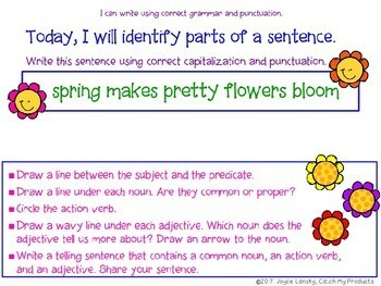 Grammar Practice: March Grammar Work in Power Point
