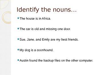 Grammar Practice Nouns