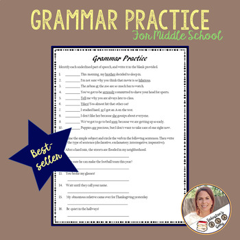 Grammar Practice- Parts of Speech, Sentence Types, and Sentence Structure