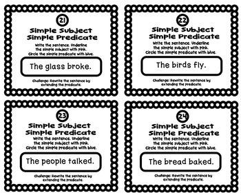 Grammar Practice: Simple Subject and Predicate