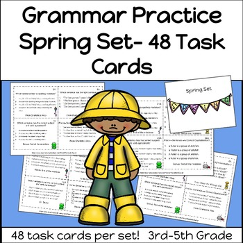Grammar Practice Spring Set 3rd-5th Grade