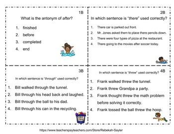 Grammar Practice Summer Set 3rd-5th Grade
