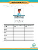 Google Classroom | Verb Tenses -ed, -ing endings | Fillable PDF |