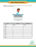 Google Classroom   Verb Tenses -ed, -ing endings   Fillable PDF  