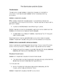 Grammar - Colon and Semicolon Notes and Worksheet