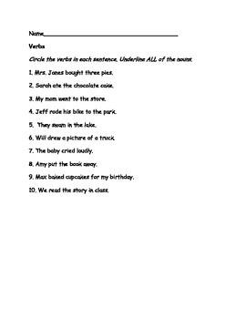 Grammar Practice: Nouns,Verbs,Adjectives