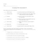 Grammar Pre-Assessment