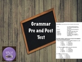 Grammar Pre and Post Test