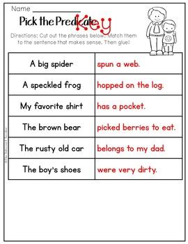 Grammar: Predicate Practice