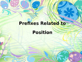 Grammar: Prefixes related to position