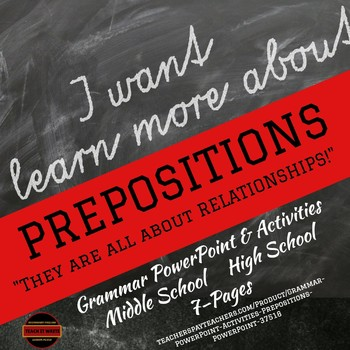 Grammar PowerPoint & Activities: Prepositions PowerPoint