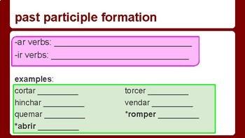 Grammar Presentation for Exprésate 2 Chapter 4