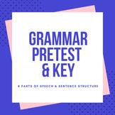 Grammar Pretest & Key