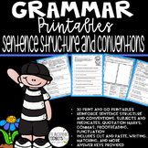 Grammar Worksheets, Grammar Review, Grammar Practice, Sentence Building