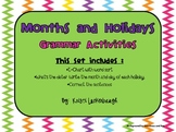 Grammar Printables for Months and Holidays