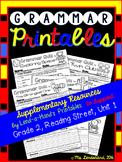 Grammar Printables to Supplement Grade 2, Reading Street, Unit 1