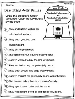 Grammar Worksheets Covering Parts Of Speech 30 Different