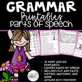 Grammar Worksheets, Grammar Review, Grammar Practice, Parts of Speech