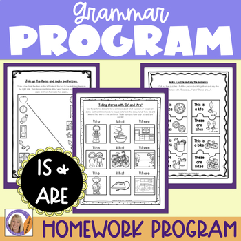 Grammar Program: Is/Are for speech and language therapy