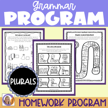 Grammar program: Regular Plurals for speech and language therapy