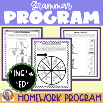 Grammar Program: ing/ed for speech and language therapy