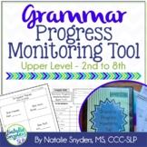 Grammar Progress Monitoring Tool for SLPs (Upper Level, 2nd - 8th)