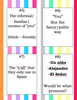 "Grammar: ""Pronombres Personales"""