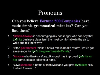 Grammar: Pronoun-Antecedent