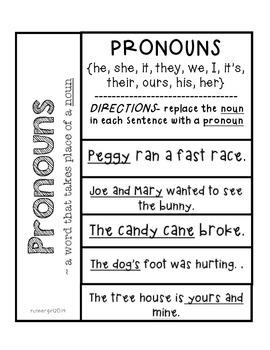 Grammar- Pronouns {Interactive Notebook}