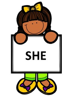 Grammar - Pronouns he & she