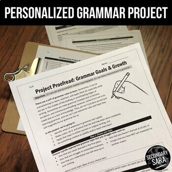 Grammar & Proofreading Skills Project: Customized Student