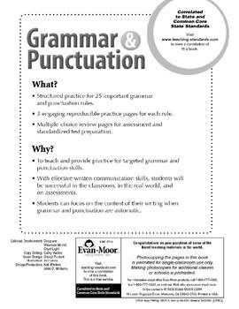 Grammar & Punctuation, Grade 4