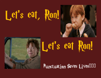 Grammar/Punctuation Poster: Harry Potter Theme