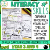 Grammar Punctuation Spelling Vocabulary Literacy Skills Ye