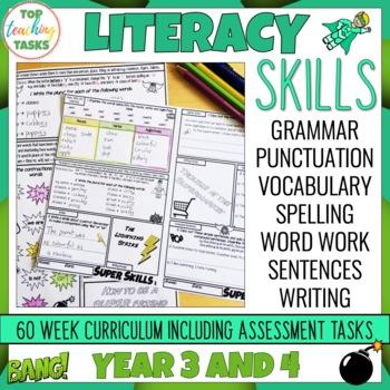 grammar punctuation spelling vocabulary literacy skills activities assessments. Black Bedroom Furniture Sets. Home Design Ideas