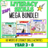 Writing and Literacy Skills BUNDLE Year 3 and 4, Year 5 and 6, Year 7 and 8