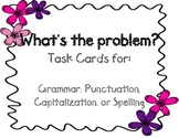 Grammar, Punctuation, Spelling, or Capitalization Task Cards