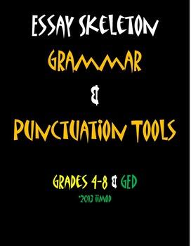 "Grammar & Punctuation Tools Mnemonic Poster (11""x17"")"